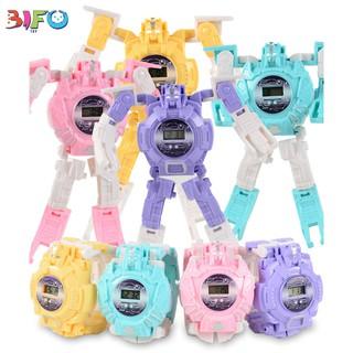 Đồ chơi đồng hồ điện tử robot biến hình 2 trong 1 cho bé học tập và vui chơi thumbnail