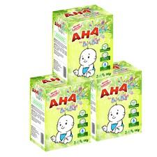 Bộ 3 hộp bột giặt dành cho tã và quần áo trẻ em AHA Baby 1kg/hộp