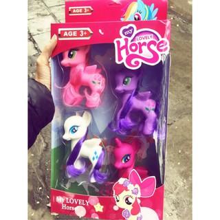 [Giá cực sốc] – Đồ chơi Set 4 nhựa pony cỡ lớn