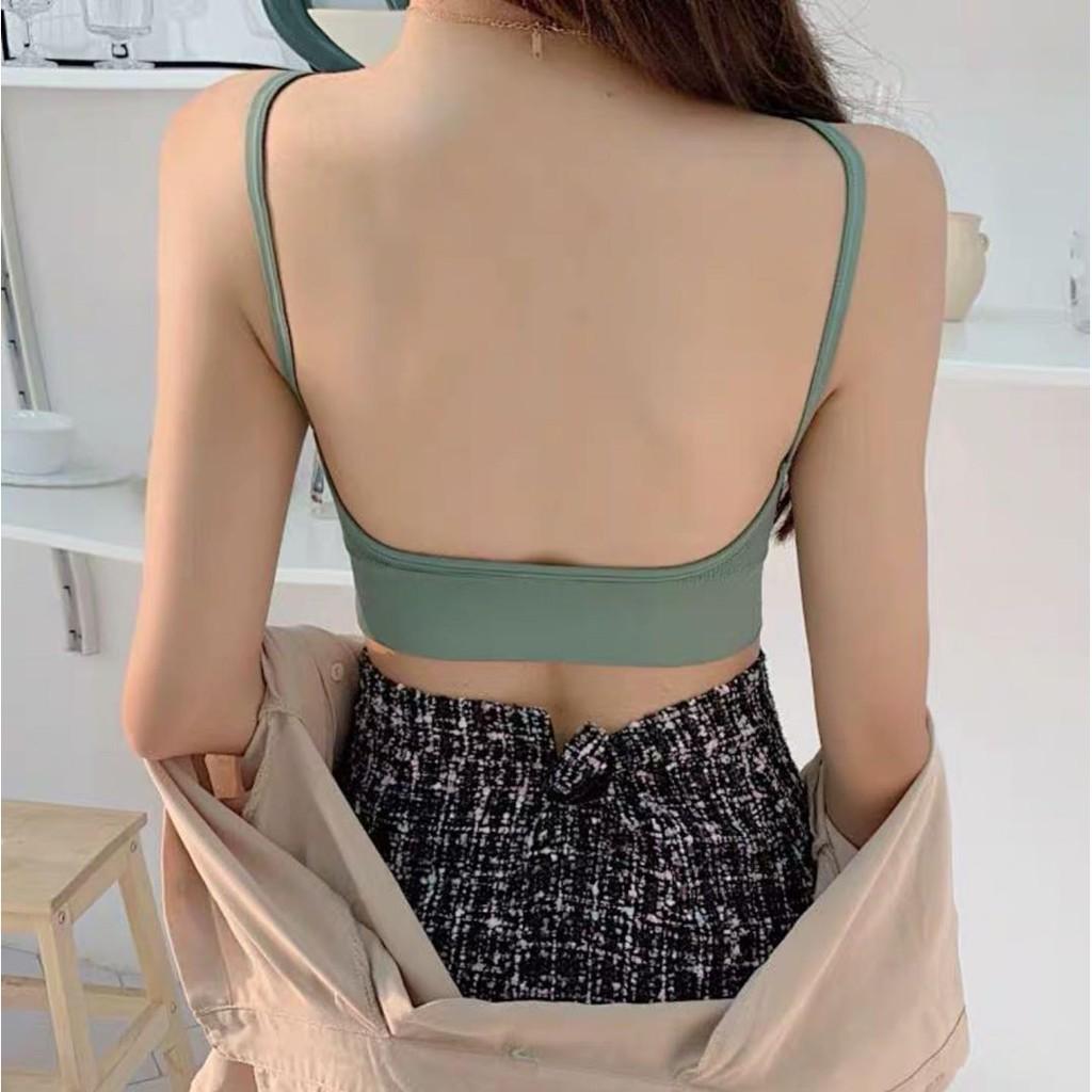 Áo bra hở lưng, áo lót nữ cotton gân tăm mềm mại, gợi cảm co giãn 4 chiều, thấm hút mồ hôi _ Siberi