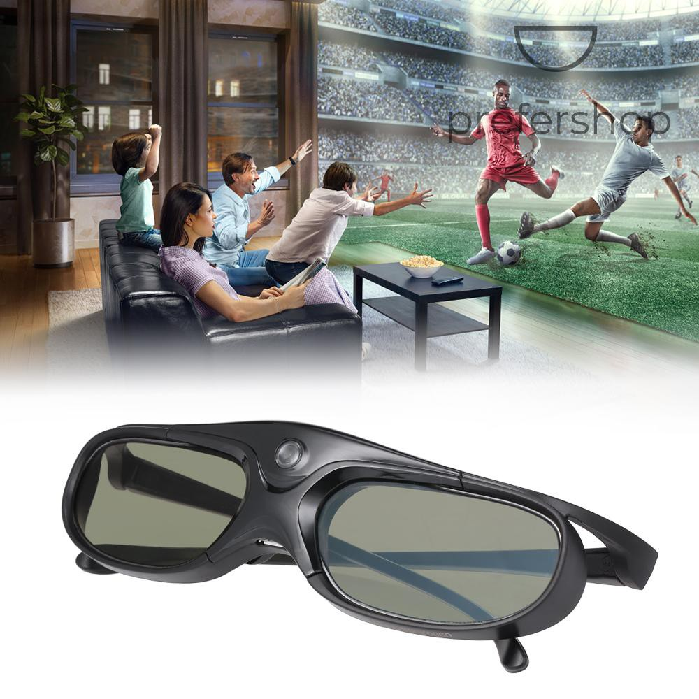 GL2100 Projector 3D Glasses Active Shutter Rechargeable DLP-Link for All 3D DLP Projectors Optama Acer BenQ ViewSonic Sharp Dell