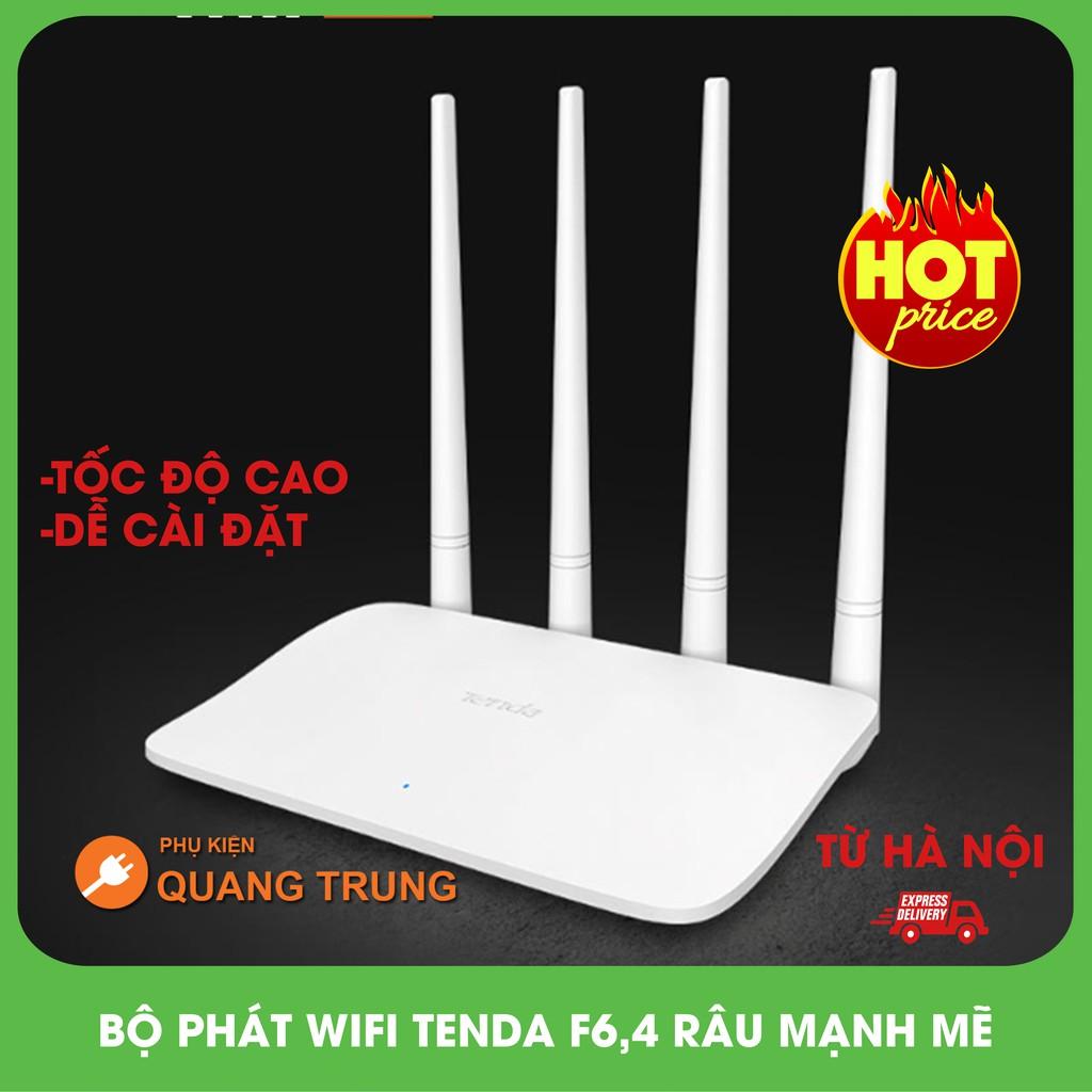 [FREE SHIP]BỘ PHÁT WIFI TENDA F6, 4 râu phát wifi cực mạnh