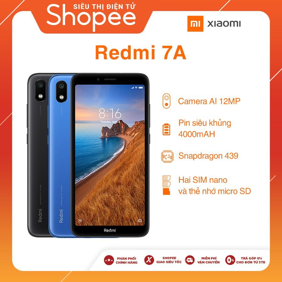 Điện Thoại Xiaomi Redmi 7A 2GB/16GB - Hàng Chính Hãng - Bảo hành 18 Tháng