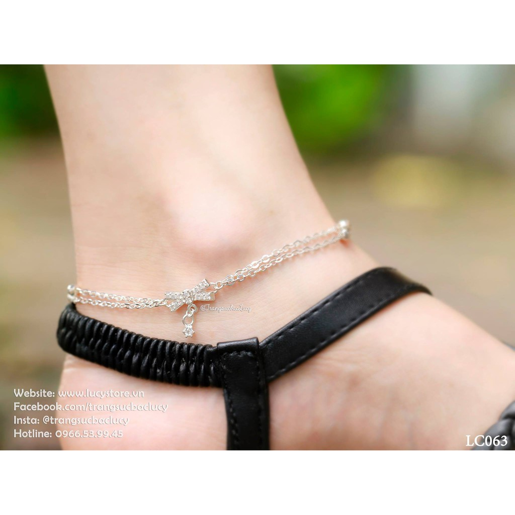 Lắc chân bạc nữ - LC063