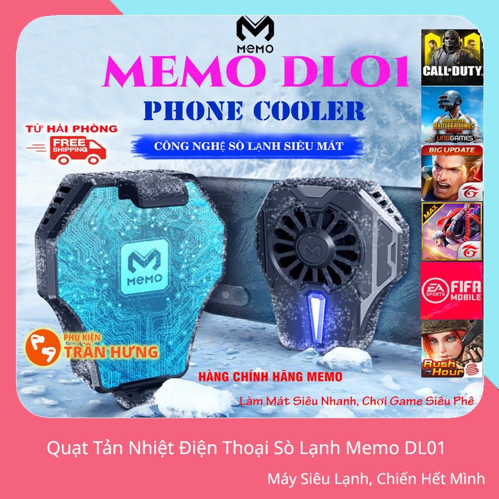 Quạt Tản Nhiệt Gaming Memo DL01 | Quạt Tản Nhiệt Sò Lạnh Memo DL01 | Quạt Làm Mát Cho Điện Thoại iPhone, Samsung, Huawei