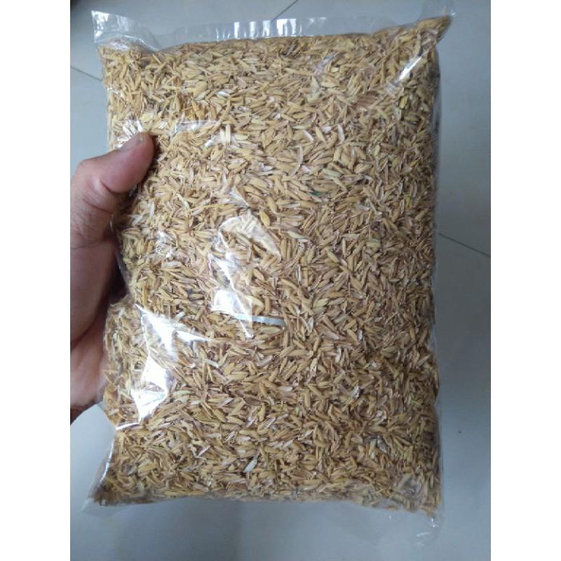 Vỏ Trấu sạch - giá thể trồng cây-trộn đất tơi xốp-dải chuồng gà vịt 300g