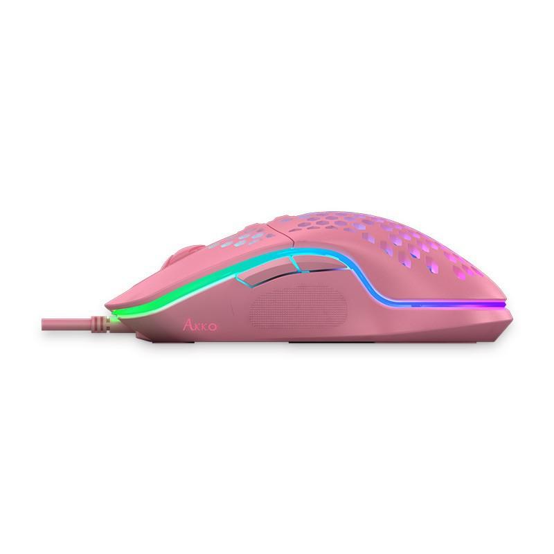 [Mã SKAMPUSHA7 giảm 8% đơn 250k]Chuột game Akko LW325 Pink   Hàng chính hãng bảo hành 12 tháng lỗi 1 đổi 1