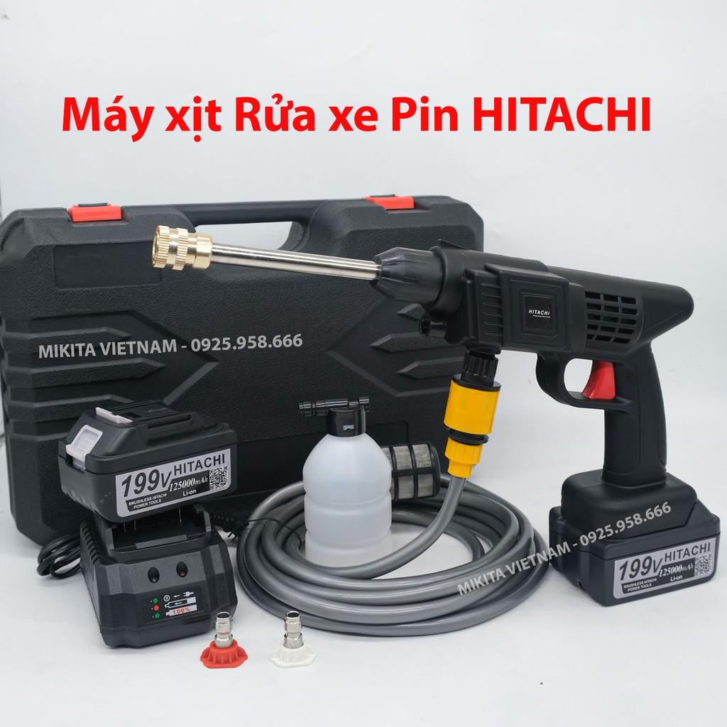 Máy Rửa xe PIN HITACHI - 199V - Rửa xe, làm vườn....