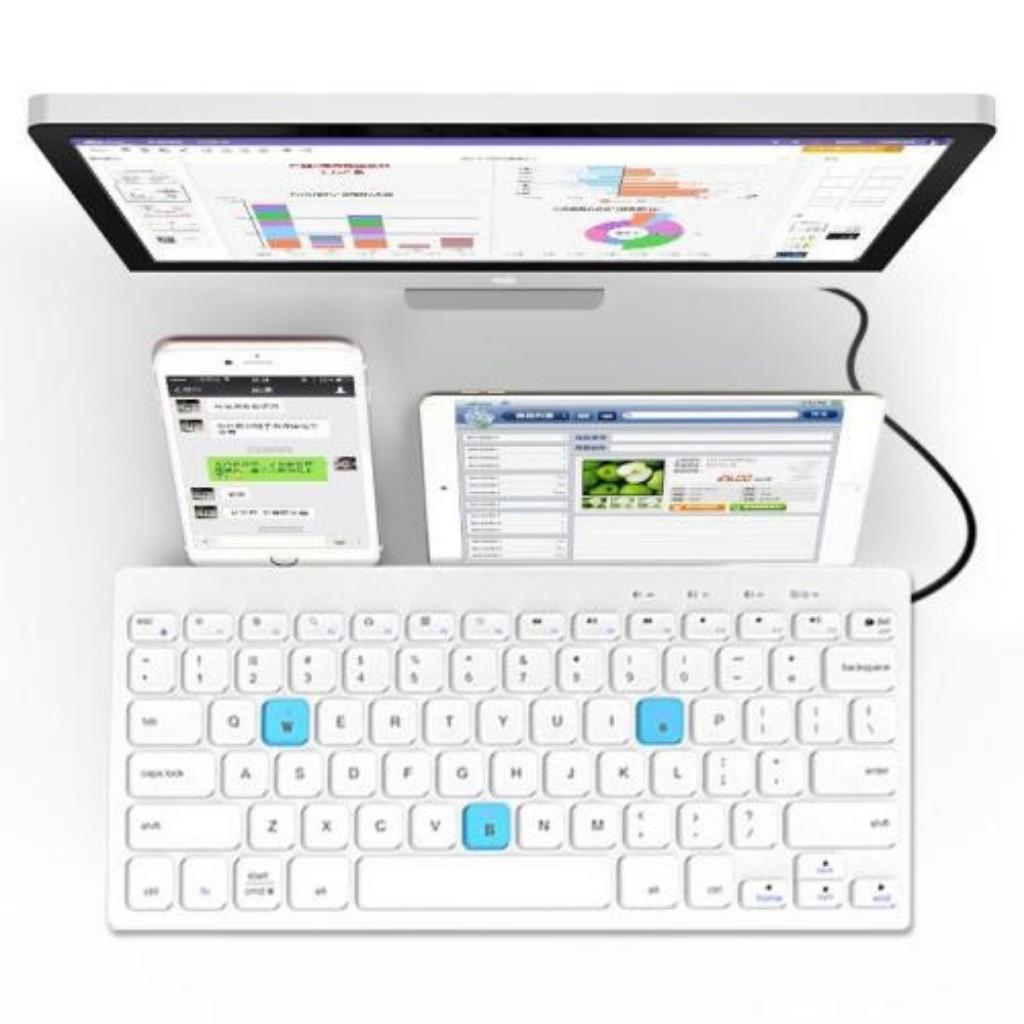 Bàn Phím Bluetooth Điện Thoại, Bàn Phím Rời Máy Tính Bảng Bluetooth Bow HB191A