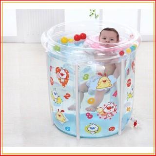 (DEAL HOT)Set bể bơi siêu bền phao hình tròn kèm phao cổ, bơm chân cho bé sơ sinh