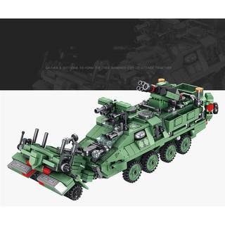 Đồ chơi mô hình – Xe bọc thép quân đội 8 trong 1