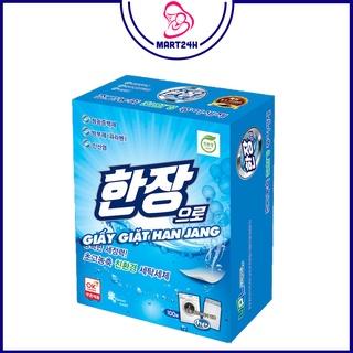 Giấy giặt quần áo Han Jang Hàn Quốc Hộp 100 tờ - Giặt và xả 2 tr thumbnail