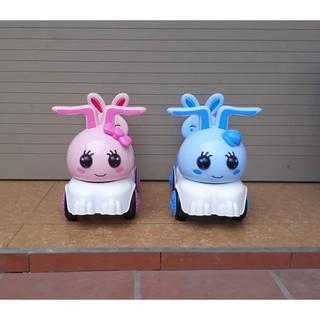 Xe bơi chòi chân cho bé hình thỏ (Xe bơi lắc có nhạc)