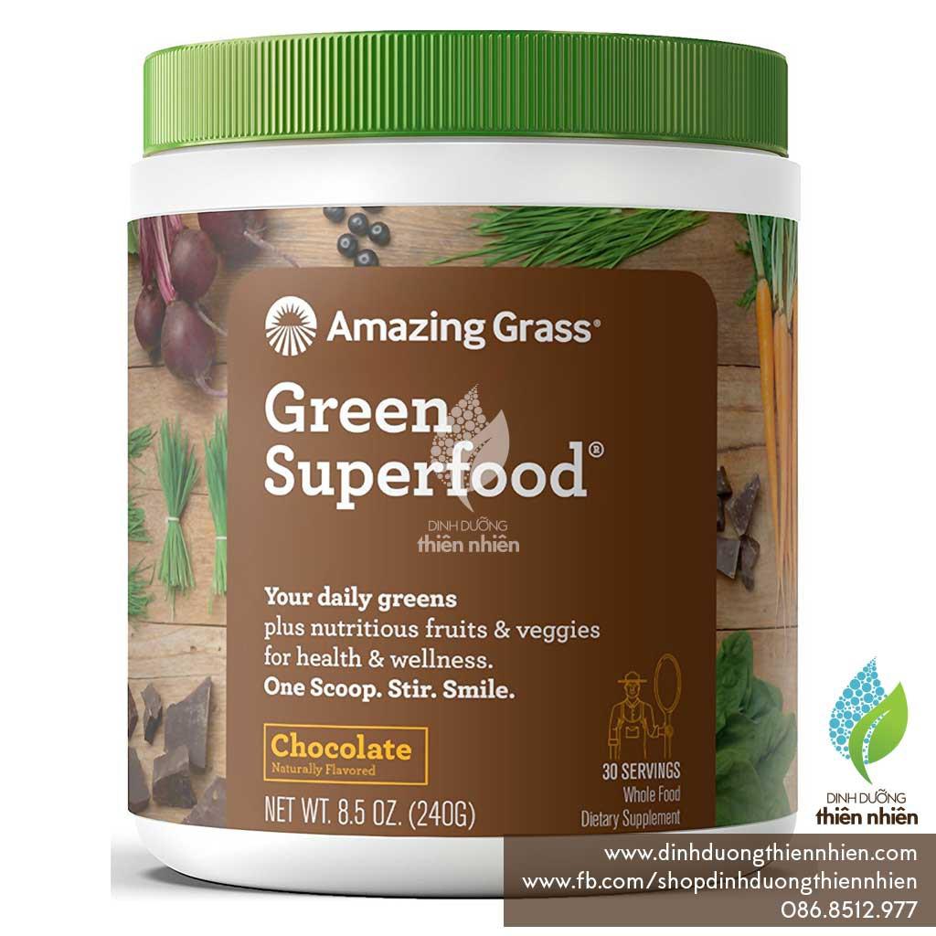 Bột Siêu Thực Phẩm Xanh Hữu Cơ của Amazing Grass, Vị Chocolate, 240g - 2515894 , 398596441 , 322_398596441 , 650000 , Bot-Sieu-Thuc-Pham-Xanh-Huu-Co-cua-Amazing-Grass-Vi-Chocolate-240g-322_398596441 , shopee.vn , Bột Siêu Thực Phẩm Xanh Hữu Cơ của Amazing Grass, Vị Chocolate, 240g