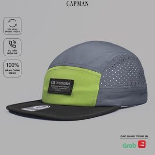 Mũ snapback chính hãng CAPMAN phong cách hiphop vải dù màu Xanh Xám CM117 thumbnail
