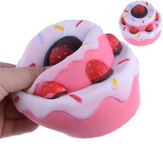 Đồ chơi bóp Squishy hình bánh kem dâu có mùi thơm squishy