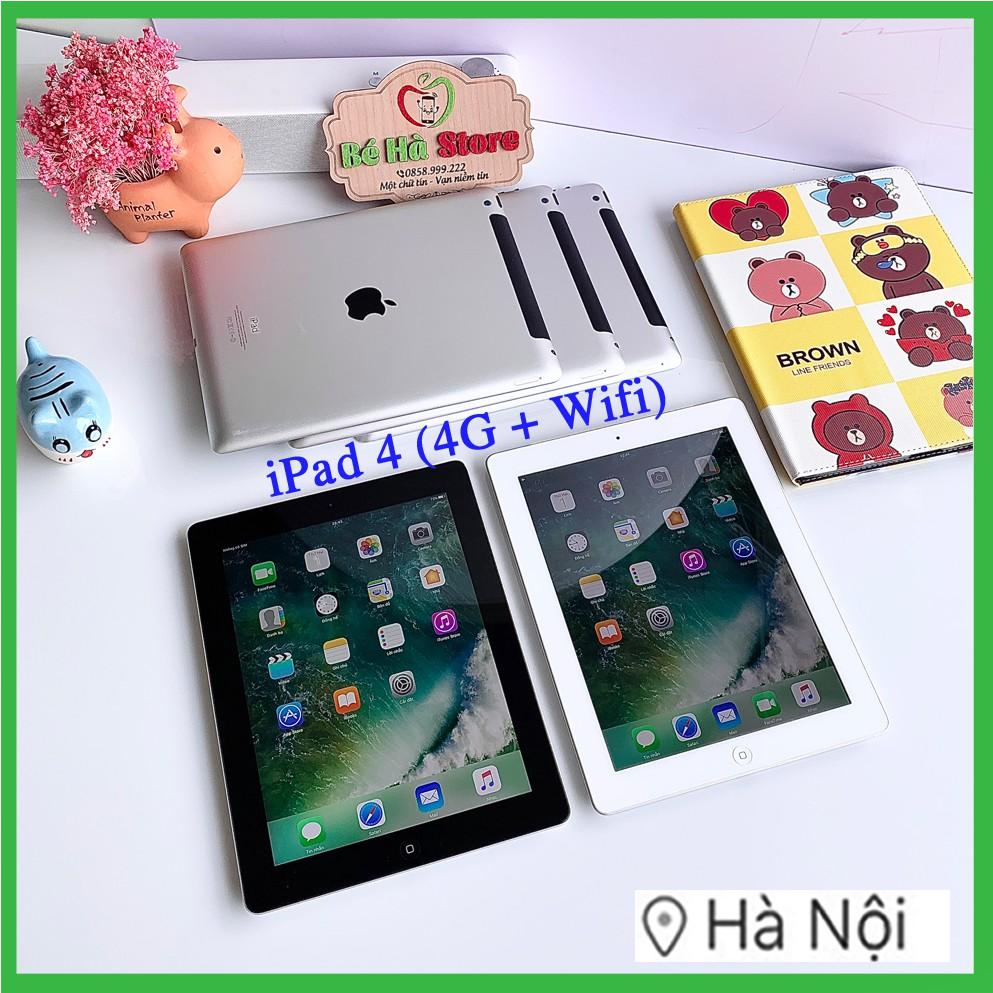 Máy Tính Bảng iPad 4 - 64/ 32/ 16Gb (Wifi + 4G)- Zin Đẹp 99% - Pin Khoẻ - Màn Rentina sắc nét