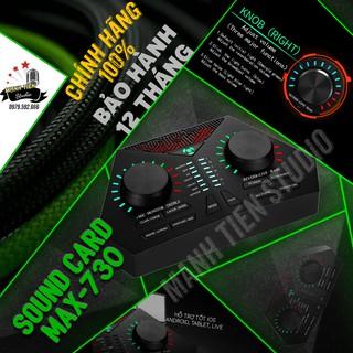 soundcard max 730 có bluetooth thu âm chuyên nghiệp idol cc talk bigo livestream bán hàng onl streamer cho ra tiếng êm