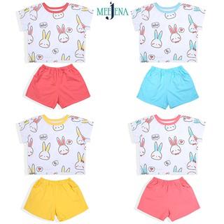 Quần áo bé gái in thỏ 14-38 kg Vải 100% COTTON - MEEJENA - 1787