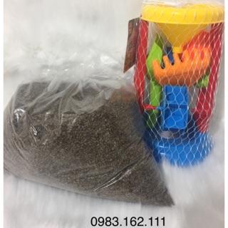 [Nhập mã TOYJUNE giảm 10K]Combo bộ đồ chơi xúc cát hạt muồng cho bé trai và gái