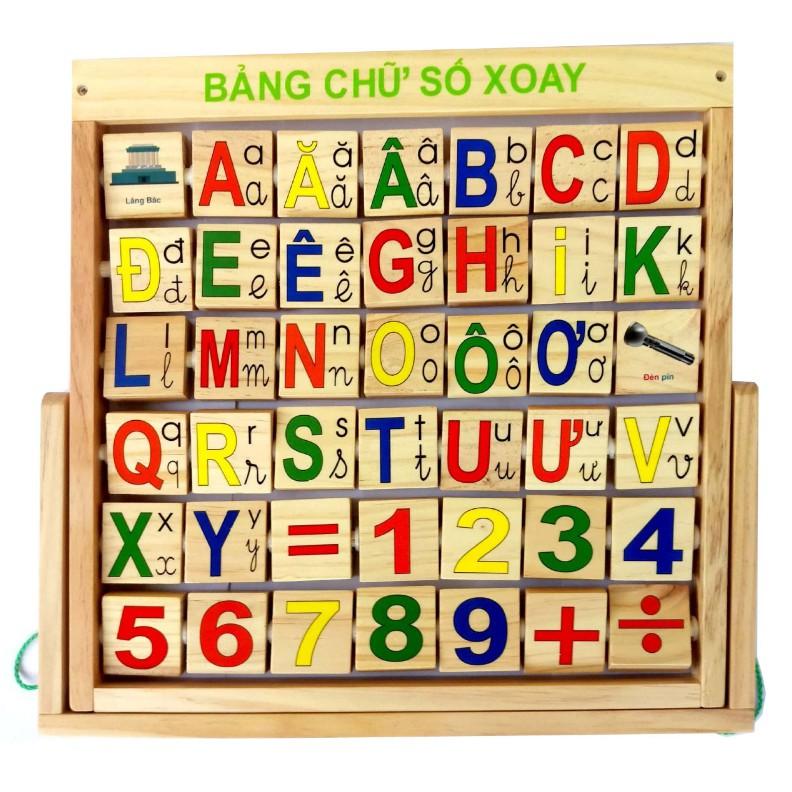 Đồ chơi bằng gỗ. Bảng Tiếng Việt, Chữ Số gỗ Cao cấp M144