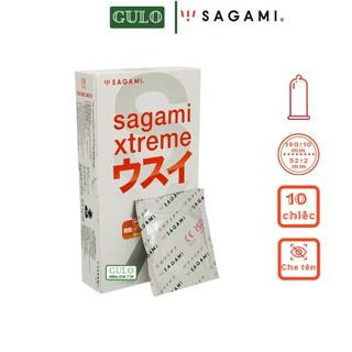 Bao cao su Siêu mỏng Sagami Superthin trơn không màu, không mùi nhiều gel bôi trơn Hộp 10 chiếc thumbnail