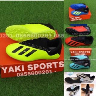 Giày Đá Bóng sân cỏ nhân tạo X18 -Tặng Tất- KHÂU ĐẾ 100% – đế cao su siêu bền. giày đá bóng đá banh