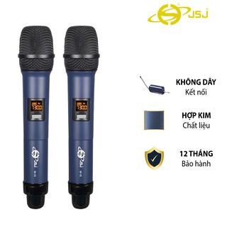 [2 mic] Micro karaoke không dây cao cấp JSJ W-15 tích hợp màn hình led chuyên nghiệp,sử dụng công nghệ sơn tĩnh điện