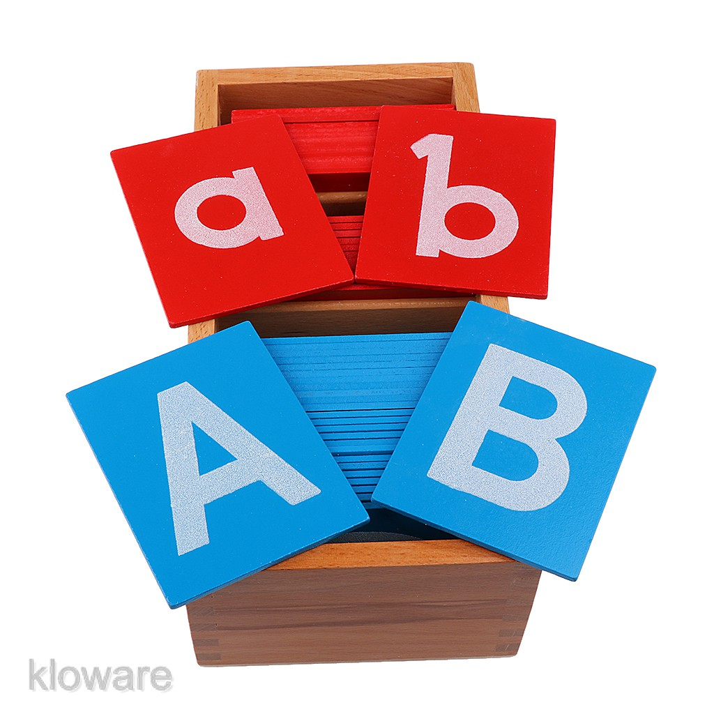 A Box of a-z A-Z Alphabet Cards for Kids Montessori Letter Language Leanring