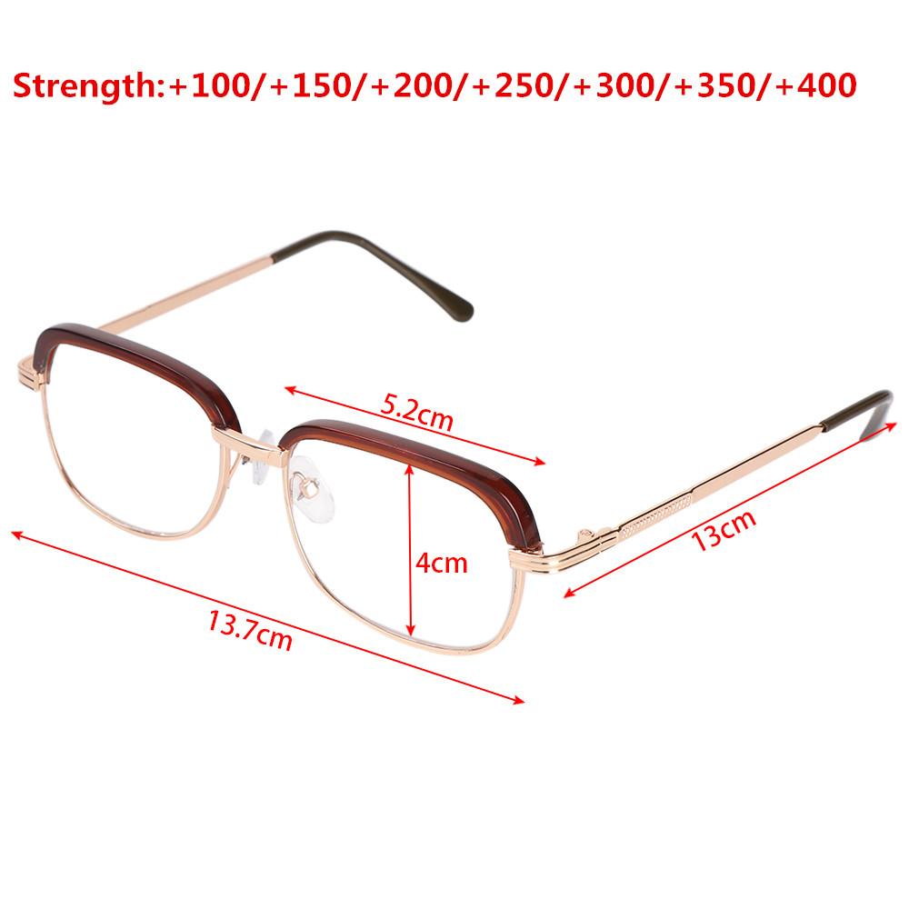 MIHAN1 Flexible Ultra Light Resin +100~+400 Diopter Eyeglasses Vision Care Reading Glasses