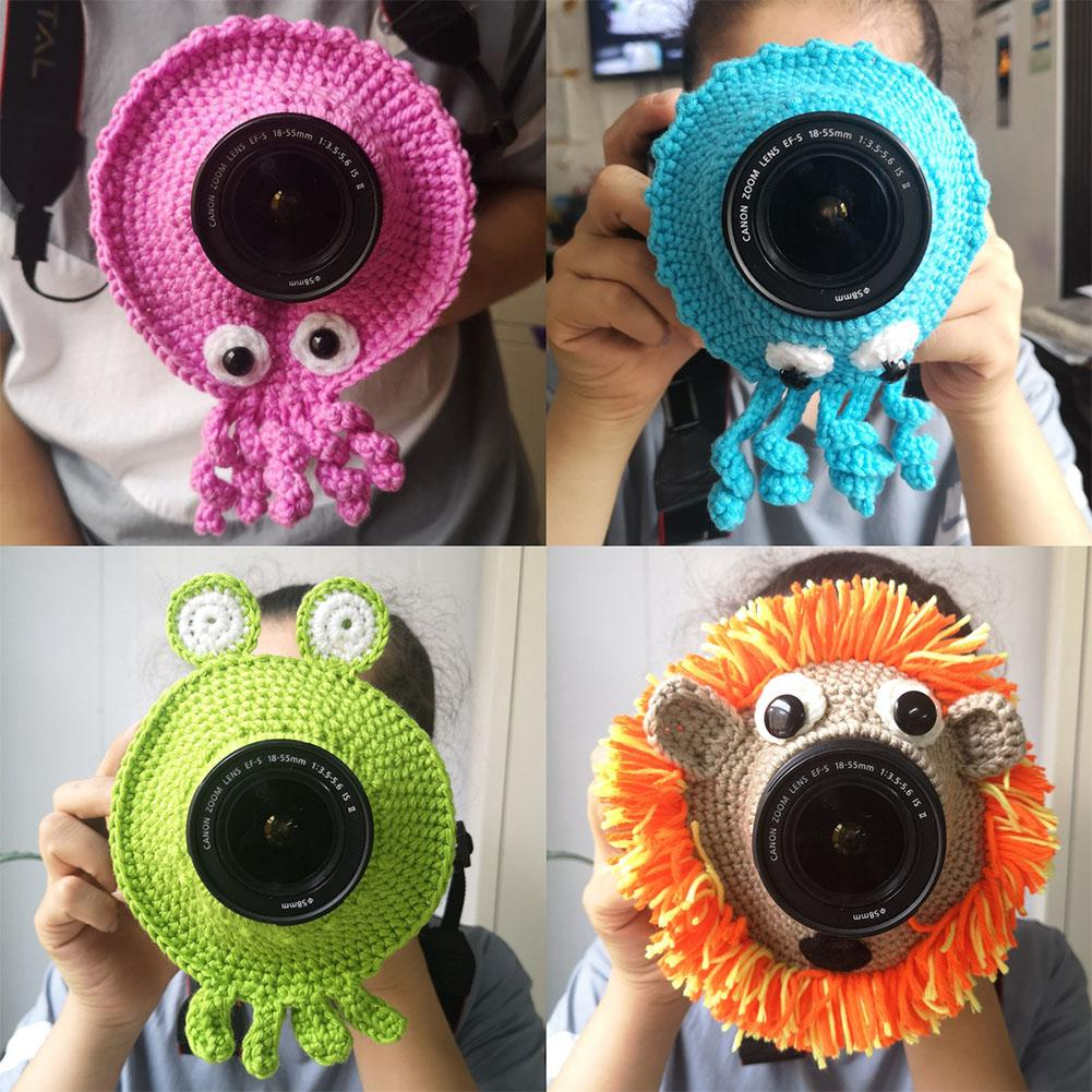 Teaser Toy Photography Props Handmade Cute Animal Kid Knitted Child Posing Lens Accessory Camera Buddies