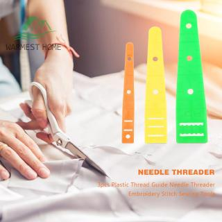 3pcs Plastic Thread Guide Needle Threader Embroidery Stitch Sewing Tools