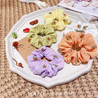 Scrunchies vải cực đẹp hoa tiết hoa xinh thumbnail