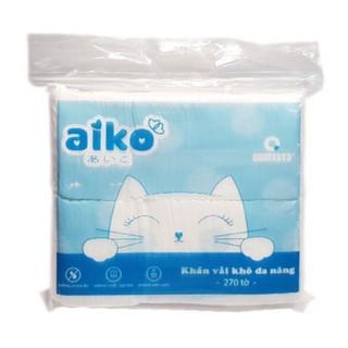 AIKO – Khăn Vải Khô Đa Năng – Gói 270 Tờ/300g