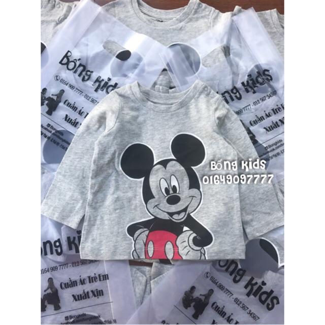 Áo Bé Trai Chuột Mickey Ghi Disney