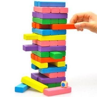 Bộ đồ chơi rút gỗ màu 54 pcs – T370