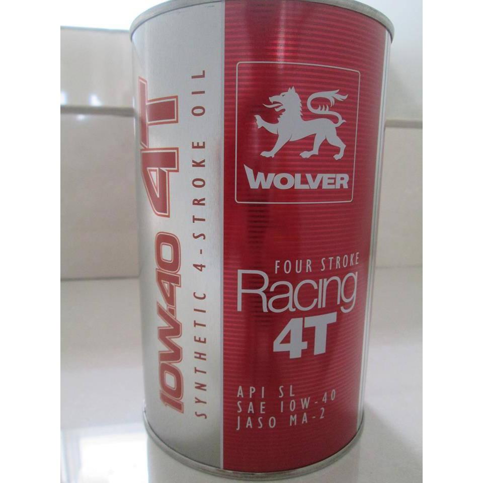 Dầu nhớt wolver racing 10w40 4t ma2 nhập khẩu từ đức chai 1 lít