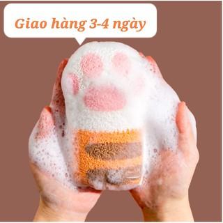 Bông tắm mèo-Bông tắm tay mèo