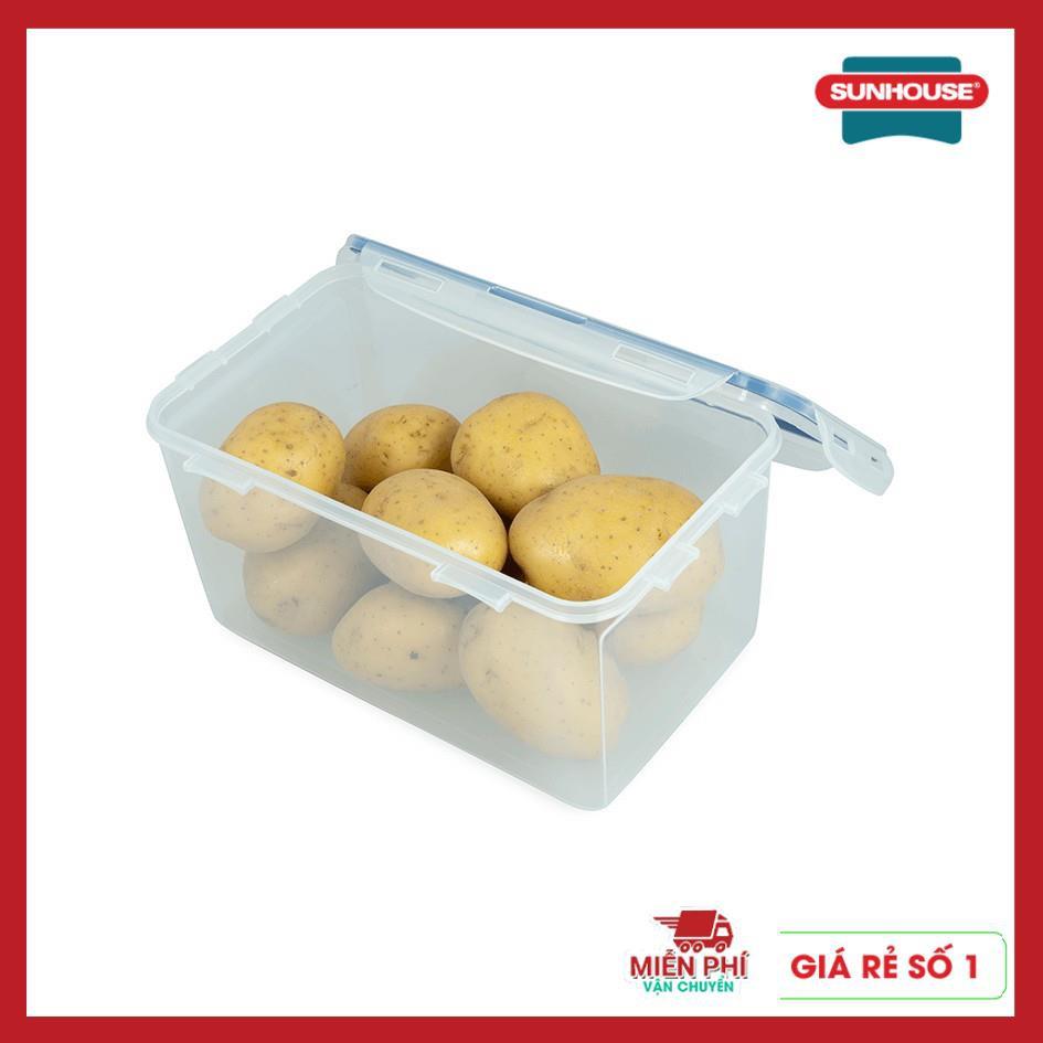 Hộp nhựa đựng thực phẩm, hộp đựng thức ăn ngăn mát Sunhouse BioZone, sử dụng cho ngăn mát tủ lạnh, nhựa nguyên sinh.