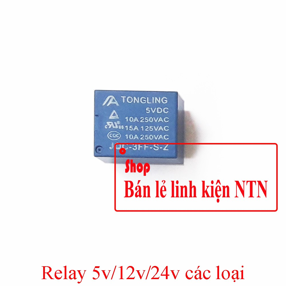 Relay 5v/12v 5 chân đóng cắt mạch điện 250V 10A