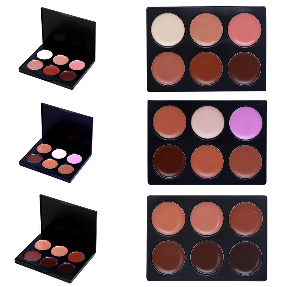 Professional 6 Colors Nature Concealer High Definition Corrector Makeup Foundation Cream 3 Types