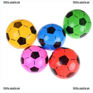 [Little] 1PC Inflatable PVC Football Soccer Ball Kids Children Beach Pool Sports Ball Toy [VN]