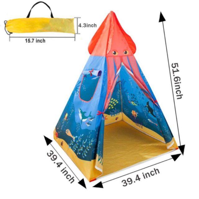 Lều tam giác cho pé 1m3 x 1m