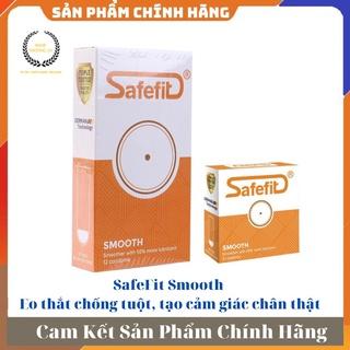 [ GIÁ SỈ ] - Bao cao su eo thắt chống tuột, tạo cảm giác chân thật Safefit Smooth - Hộp 3 cái hoặc 1 thumbnail