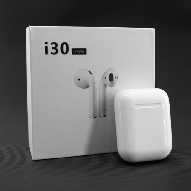 Tai Nghe I30 TWS cảm ứng kết nối 5.0 hỗ trợ sạc không dây định vị đổi tên bảo hành 12 tháng