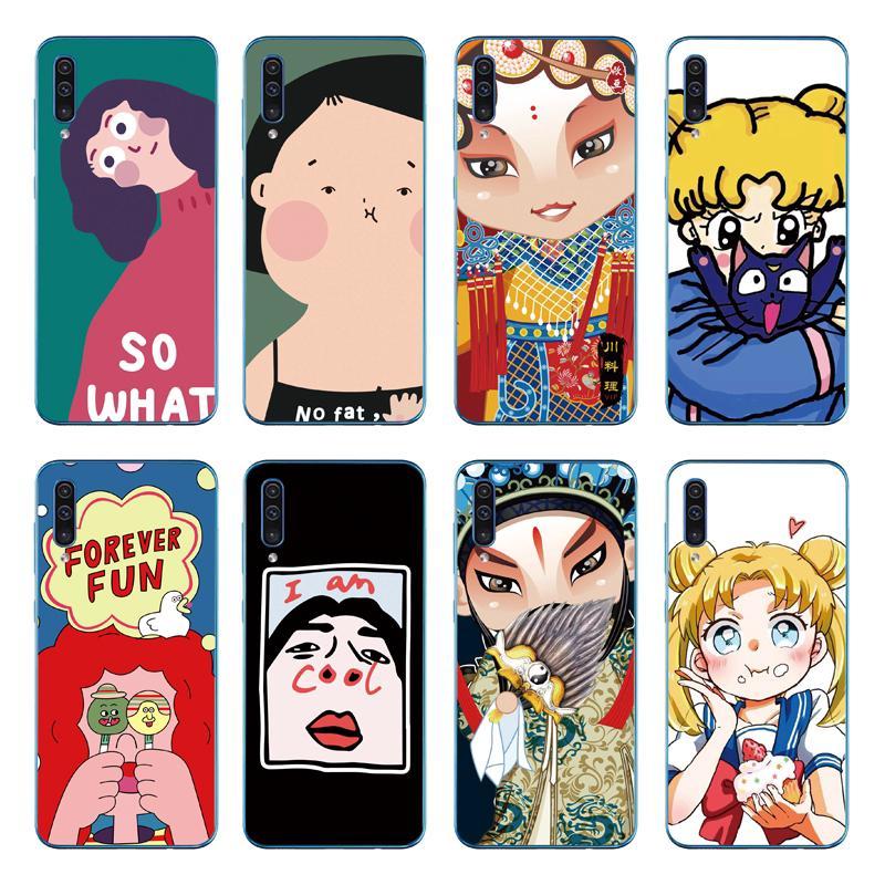 Cute Fat Girl Soft Cover Samsung Galaxy A70 A50 A40 A30 A20 A10 TPU Case