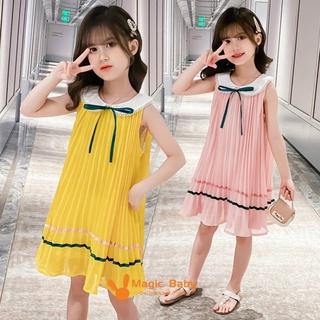 Đầm Xòe Kiểu Xếp Li Phong Cách Hàn Quốc Xinh Xắn Dành Cho Bé Gái