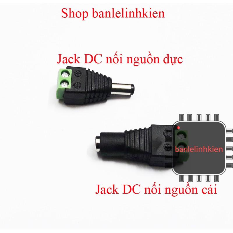 Jack DC nối nguồn đực/cái