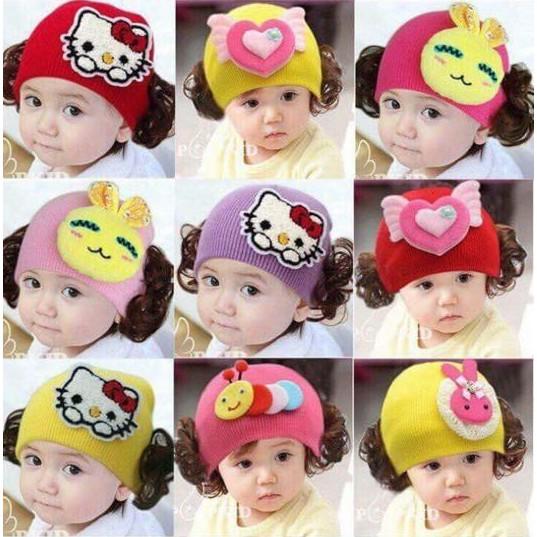 mũ len tóc giả cho bé gái 1-2 tuổi - 2544495 , 699017520 , 322_699017520 , 80000 , mu-len-toc-gia-cho-be-gai-1-2-tuoi-322_699017520 , shopee.vn , mũ len tóc giả cho bé gái 1-2 tuổi
