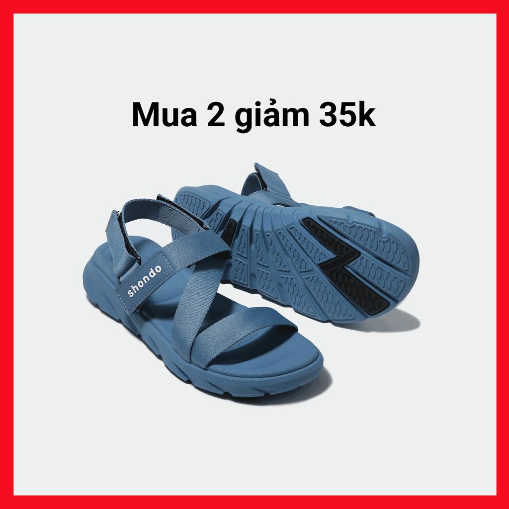 Giày Sandals SHONDO F6 Sport- F6S304-màu xanh dương